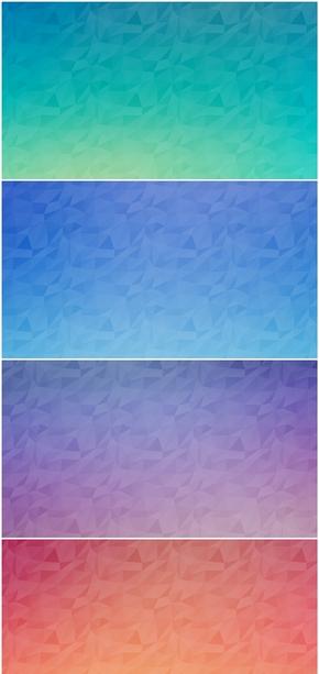 精选5款碎三角纯色渐变PPT背景图片