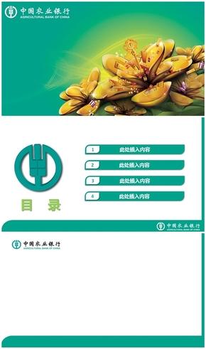 精选1套中国农业银行业母版