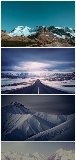 精选10款雄伟雪山风景PPT背景图片
