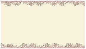 精选1款古典云纹边框PPT背景图片