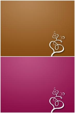 精选2款创意心形设计PPT背景图片