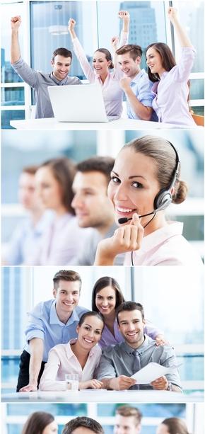 精选11款高清商务团队人物PPT图片