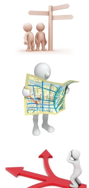 精选13款3D小人道路方向选择PPT素材