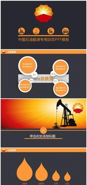中国石油公司专用PPT模板