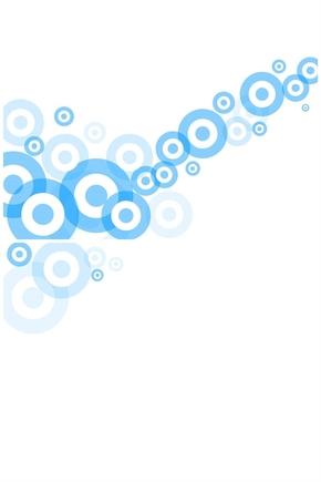 精选1套艺术设计蓝色圆圈PPT母版