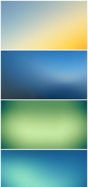 精选9款IOS风格PPT背景图片