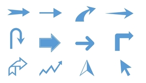 精选1套颜色大小可修改PPT箭头素材(4)