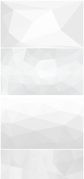 精选13款浅灰色低多边形PPT背景图片