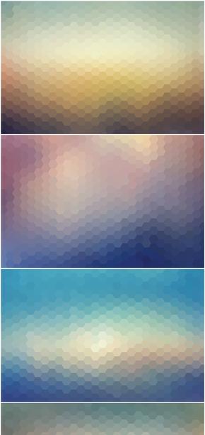 精选5款蜂窝形毛玻璃效果PPT背景图片