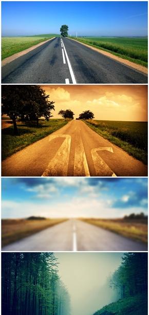 精选8款道路公路在路上PPT背景图片