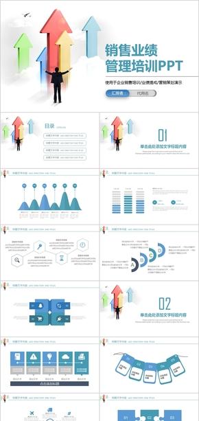 销售业绩管理培训动态PPT模板