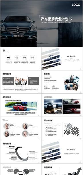 高端汽车商业计划书动态PPT模板