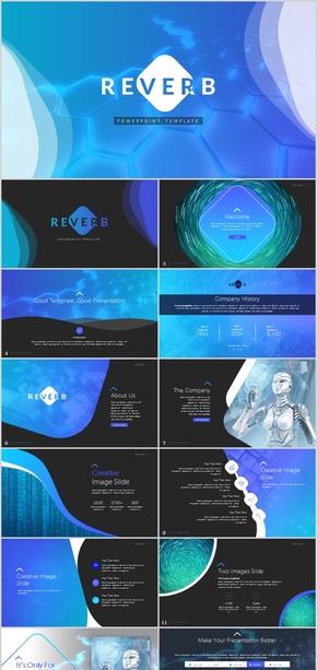 科技机器人未来VR人工智能科学教育广告信息互联网AI技术公司简介工作总结计划汇报ppt模板广告大气酷