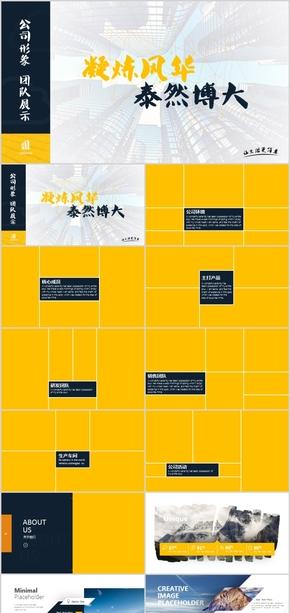 公司介绍活动方案策划团队展示产品宣传企业文化精神培训课件广告发布会工作汇报计划总结PPT模板创意相册