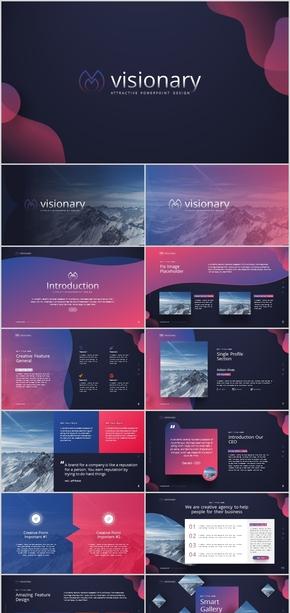 紫色渐变大气工作汇报计划总结时尚多彩公司简介科技人工智能创意唯美电商广告现代杂质风简约复古ppt模板