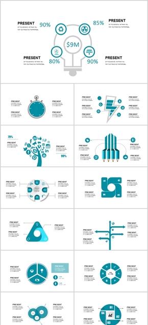 实用工作汇报计划总结图表饼图分类图关系图流程图PPT模板常用ppt素材手绘卡通图标商务广告科技扁平化