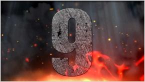 大气震撼10秒倒计时视频PPT模板含mp4火山碎裂火焰喷发企业颁奖节日庆典新年晚会跨年发布会片头广告