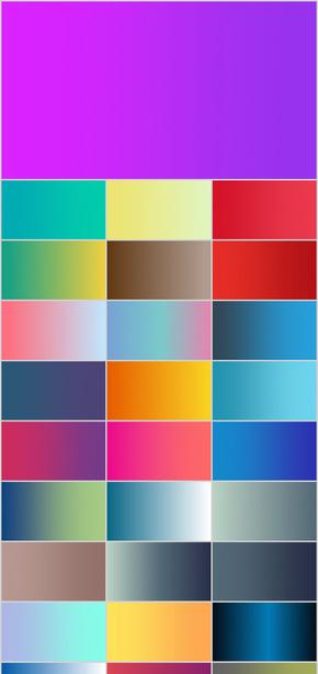 300套PPT渐变颜色背景 标准ppt配色 IOS风格 清新 高清壁纸 网页风格