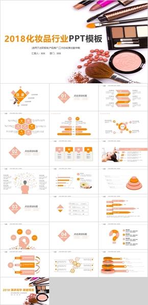 化妆品行业PPT模板006