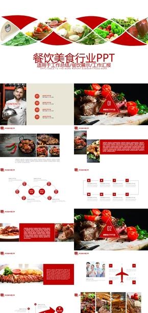 中式餐厅美食介绍PPT模板