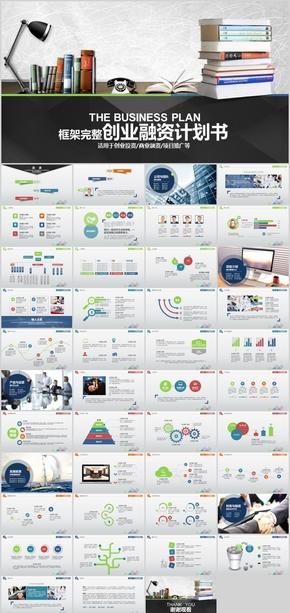 框架完整的创业融资计划书PPT模板