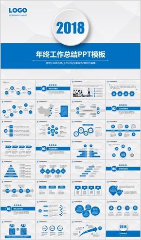 蓝色述职报告策划方案PPT模板