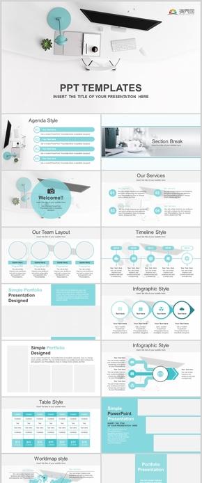 極簡風桌面歐美高端商務演示工作匯報計劃總結企業介紹小清新通用PPT模板