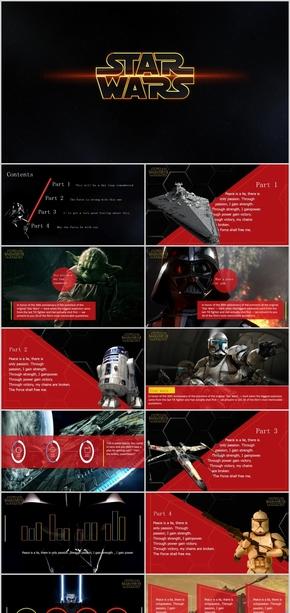 酷黑钢铁侠广告主题设计报告ppt模版