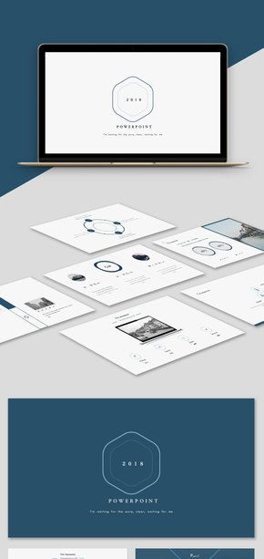 【商務】藍色簡約商務風歐美風實用工作匯報簡約風模板
