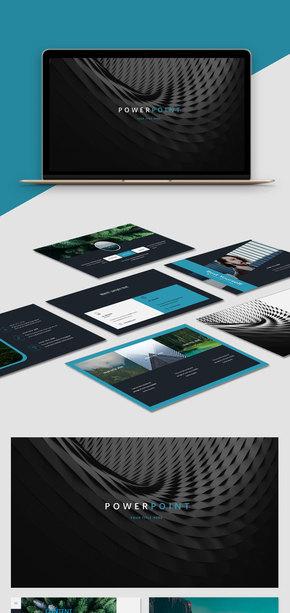 【商務】黑色簡約商務風歐美風實用工作匯報簡約風PPT模板