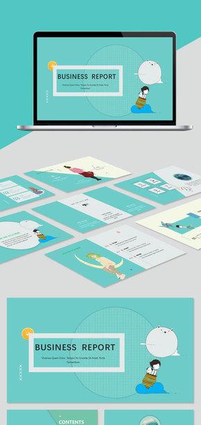 【小清新】綠色小清新工作總結計劃PPT模板 小清新 水彩 模板 小清新風格 風格 清新水彩 清新模板