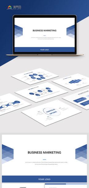 【商務】? 藍色商務簡約工作匯報模板