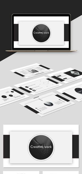 【商務】黑色簡約商務風歐美風實用工作匯報簡約風模板
