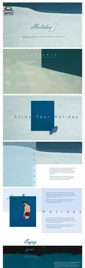 冰蓝扁平画册活动策划杂志编辑读书分享文艺通用模板