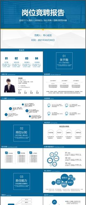 岗位竞聘报告个人简介领导力分析ppt模板12
