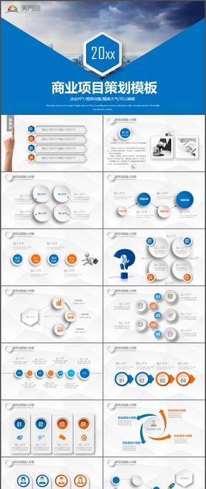 精美大气商业项目策划团队管理PPT模板8