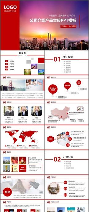 公司介绍产品宣传PPT模板1