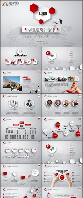 微粒体商务商业策划创业融资计划书PPT模板10