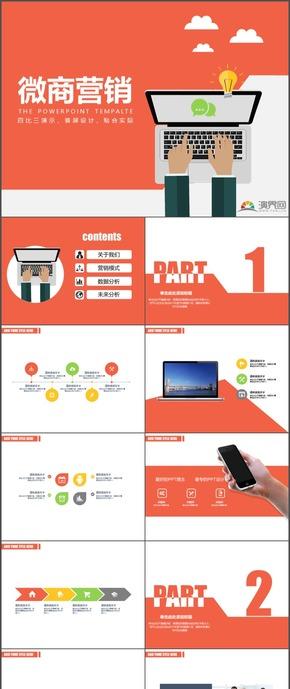 微信营销微商营销商业计划书PPT模板6