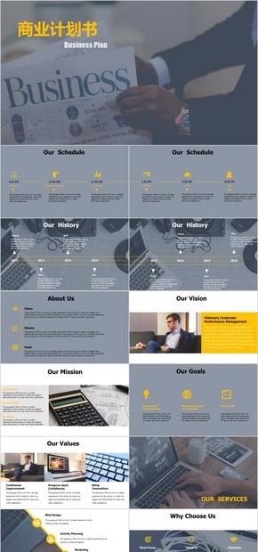 产品介绍公司简介商业计划活动策划PPT模板