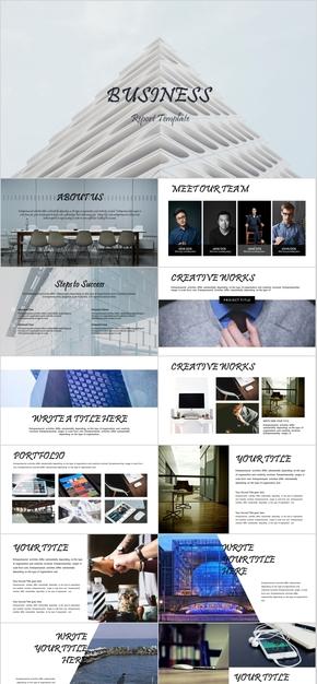 商业计划书公司介绍项目融资欧美风格PPT模板