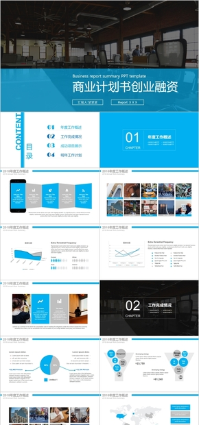 商业计划书企业简介公司介绍动态模板