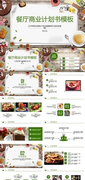 餐饮美食计划书策划PPT模板