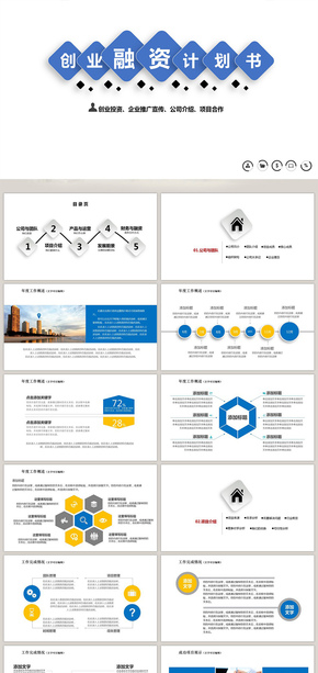 商业计划书数据分析 商务模板 欧美风