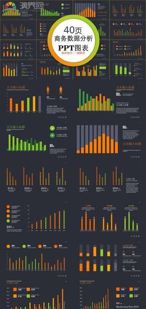商務數據分析PPT圖表合集