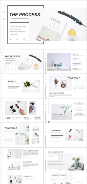 欧式时尚简约品牌宣传画册PPT模板源文件下载