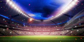 世界杯足球比赛设计背景图
