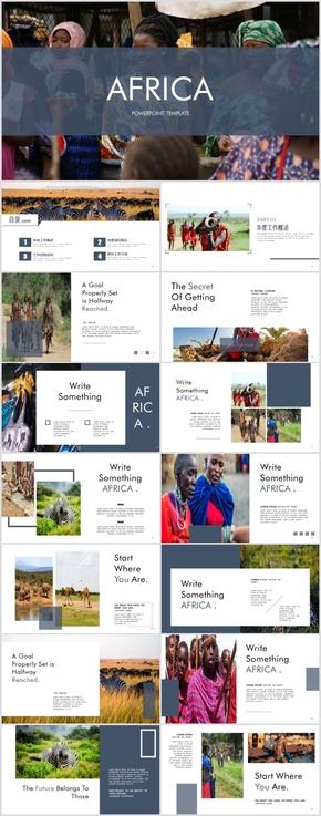 非洲旅游PPT风土人情介绍旅游