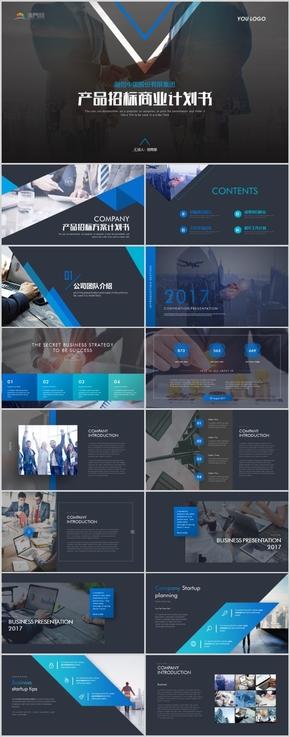 高端公司产品招标项目方案商业计划书PPT模版