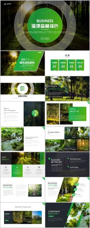 濕地森林介紹宣傳世界濕地森林日植樹造林動態PPT